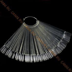 Дисплей-веер для образцов №2 прозрачный, 50 шт.