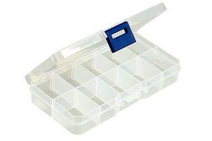 Кейс пластиковый с отделениями R656. 17см х 10см х 2см