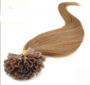Натуральные волосы на кератиновой капсуле U-тип, №012 Golden Brown - 50 см, 100 капсул.