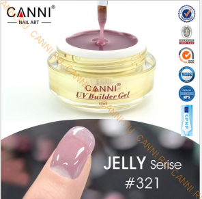 Моделирующий гель-желе камуфляж Canni №321 UV Builder Gel Jelly