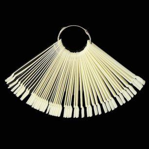 Дисплей-веер для образцов №2 белый, 50 шт.
