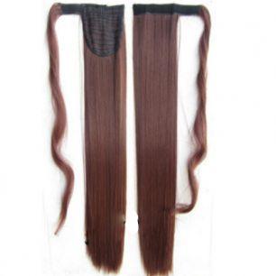 Искусственные термостойкие волосы - хвост прямые №033 (55 см) -  90 гр.